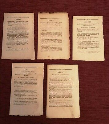 Napoleon 1 Empire,(1802), Lot Of Documents, ¡¡¡Offer!!!.