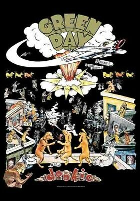 GREEN DAY DOOKIE FLAGGE posterflagge  Lizenziert TEXTILE POSTER