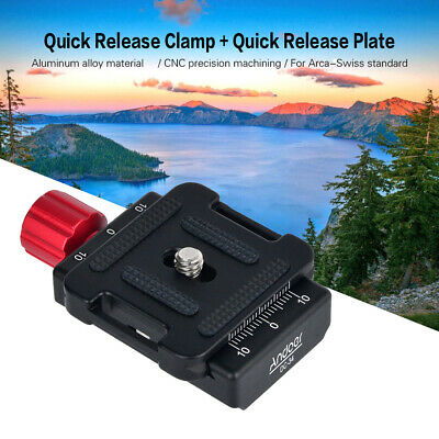 Andoer DC-34 Quick Release Plate Clamp Adapter with One Quick Release Plate Y2E6