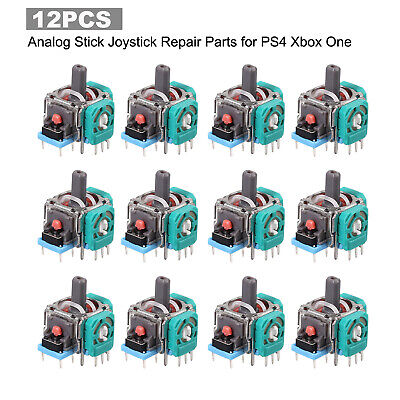 12Pcs Joystick Replacement Repair Parts For Ps4 Xbox One Controller New