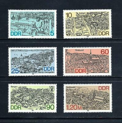 EAST GERMANY _ 1988 'TOWNS' SET of 6 _ mlh ___(583)