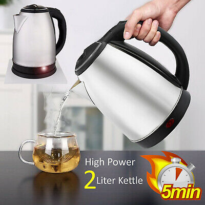 Stainless Steel 2L Litre Cordless Fast Boil Electric Indicator Light Kettle Jug