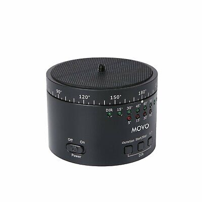 Motorized Panaromic Time Lapse Tripod Head Variable Speed, Time and Direction