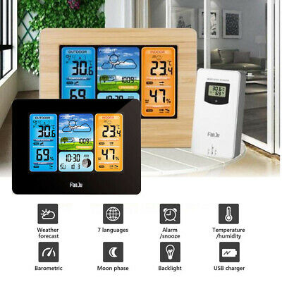 L6B5P emperature Electronic Calendar Clock Wireless Weather Forecast Station TUK