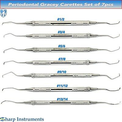 Dental Gracey Bone Curettes Surgical Periodontal Lab Kit SG1/2- SG13/14 Set Of 7