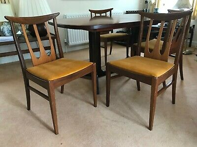 Cool Set Of 4 Kofod Larsen For G Plan Danish Range Rosewood Squirreltailoven Fun Painted Chair Ideas Images Squirreltailovenorg