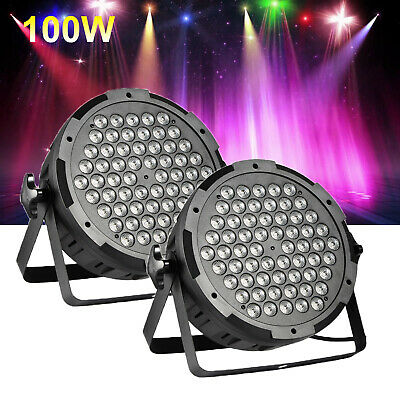 2X 100W RGB LED Club Disco Moving Head Beam Light DMX Stage Lighting Party DJ