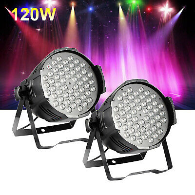 2X 120W RGB LED Club Disco Moving Head Beam Light DMX Stage Lighting Party DJ
