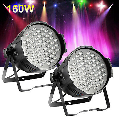2X 160W RGB LED Club Disco Moving Head Beam Light DMX Stage Lighting Party DJ
