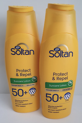 2 x Soltan Protect & Repel Lotion SPF50+ 200ml