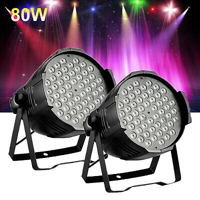 2X 80W RGB LED Club Disco Moving Head Beam Light DMX Stage Lighting Party DJ