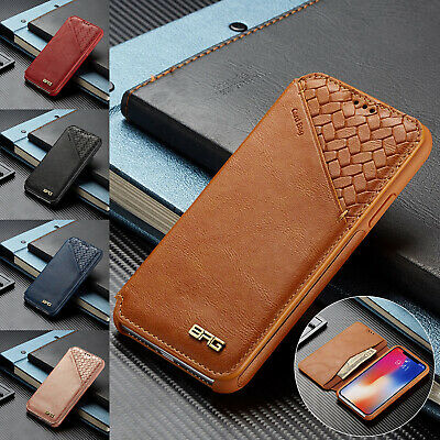 For iPhone 8 Plus 7 6 XS Max XR Case Retro Magnetic Leather Wallet Stand Cover
