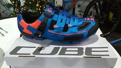 CUBE MTB PRO Cycling SHOES BLUE NEW WAS £120 NOW £50 Size 6