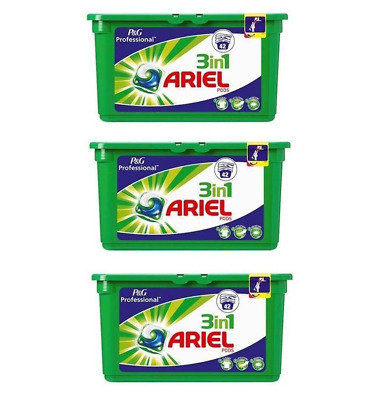 3x42 PACK P&G Professional Ariel 3in1 Pods Regular Liquitabs 126 Washes Capsules