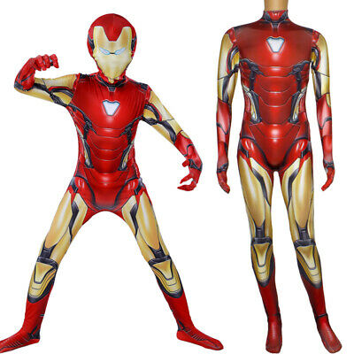 Cosplay Avengers Endgame Iron Man Mark 85 Costume Zentai Suit For Adult Kids