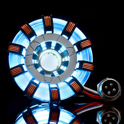 MK2 Acrylic Tony ARC Reactor Model DIY Kit USB Chest Lamp Movie Props Illuminan