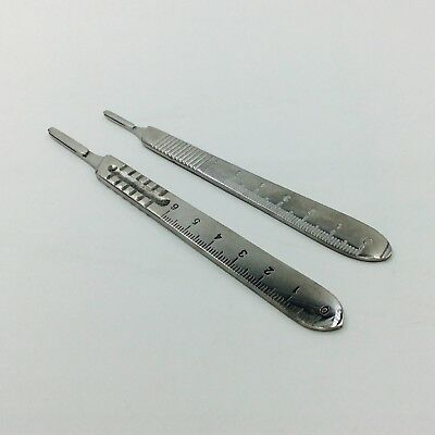 2 pcs Blade Handle Scalpel handles 3# and 4#  with scale surgical instrument