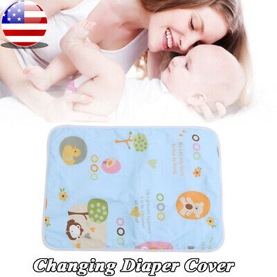 f6e1fe258d7 Newborn Baby Changing Pad Infant Cotton Nappy Cover Toddler Waterproof  Urine Mat