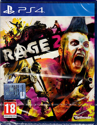 RAGE 2,PLAYSTATION 4,PS4 PRO Enhanced,Disco Bluray Italiano,NUOVO,SIGILLATO