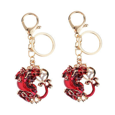 2xHandmade Piyao Lucky Keychains to Bring Wealth Fortune Car Bag Key Rings