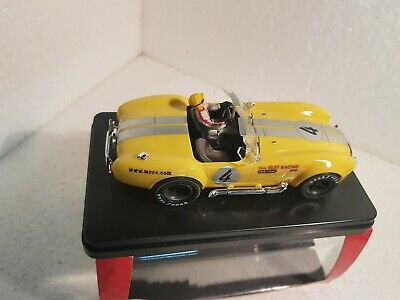 QQ Mrrc Slot car Shelby Cobra 427 S/C #4 Guide Slot Racing Limited Edition