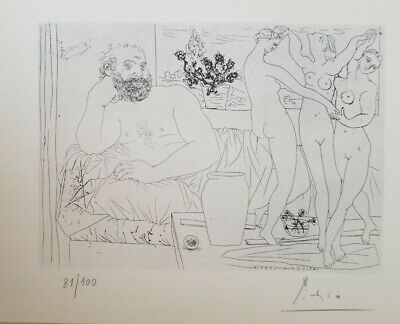 Pablo Picasso Hand Signed Numbered 1954 Lithograph Suite Vollard W No Reserve !