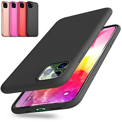 For iPhone 8 7 6 Plus XS Max XR Soft Shockproof Silicone Protective Case Cover
