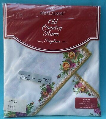 Unopened Royal Albert Old Country Roses Pack Of Six Napkins