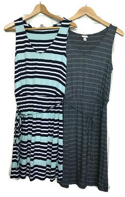 ed16b3af58 Merona Women's Jersey Knit Dress Lot of 2 Size Medium Sleeveless V-Neck