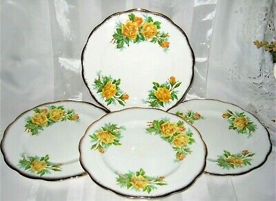 Royal Albert - Yellow Tea Rose -  Salad Plates (4)