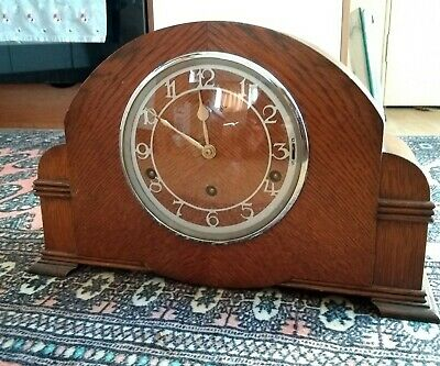 Antique Garrard Striking Mantel Clock* Garrard Original Key*