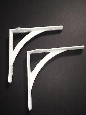 "Set of 2  Arch - WHITE - Cast Iron Shelf Brackets 6 1/4""in. x  6 1/4""in. Rustic"