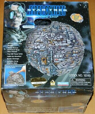 Star Trek First Contact Movie Borg Ship Playmates 1996 OPENED WORKING NEW