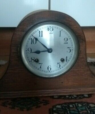 A Nice Antique Napoleon Hat Shaped Mantel Clock* Payne Retailer Bromley*