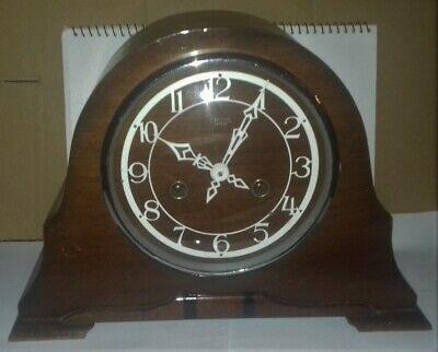 Collectable Vintage Napoleon Hat Smiths Enfield Wooden Clock. Spares or Repair