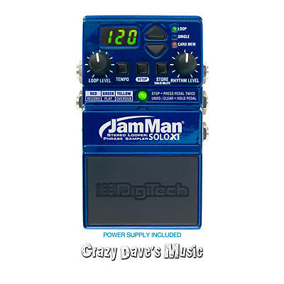 Digitech JamMan Solo XT Stereo Looping Pedal with JamSync