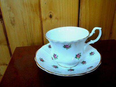 Crownford Fine Bone China Dainty Pink Rose Cup And Saucer Set Made In England