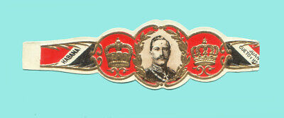 Vitola Antigua - Old Cigar Band - Marca JUAN CUETO - GUILLERMO II de Alemania