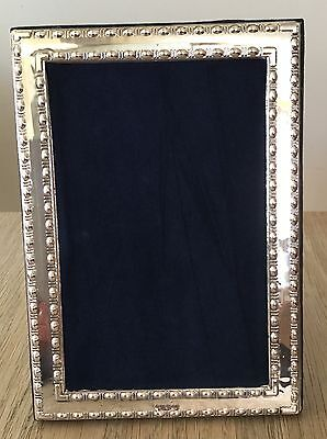 "Hallmarked Silver Photo Frame 6""x4"". Fully hallmarked in London, including date."