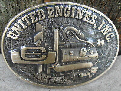 United Engines Inc Solid Brass Belt Buckle Sealed