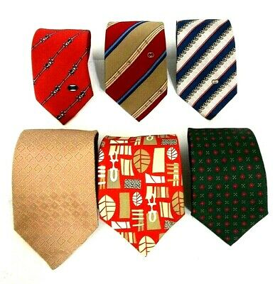 Gucci Lot (6) Italy Vtg Classic-Made/Modern/Accessory-Collection Silk Neck Ties