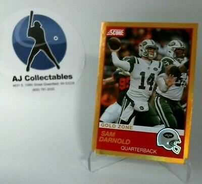 SAM DARNOLD 2019 Panini Score Football Gold Zone Parallel 27/50 - JETS (A)