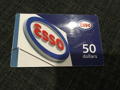 Esso gift card 50 dollars