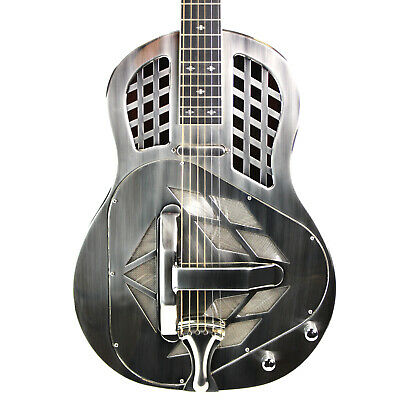Royall Trifecta Brushed Nickel Brass Body Tricone Resonator with Pickup & Case