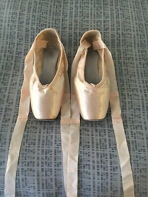Bloch Axis Pink Satin Pointe Shoes Size 6.5XX