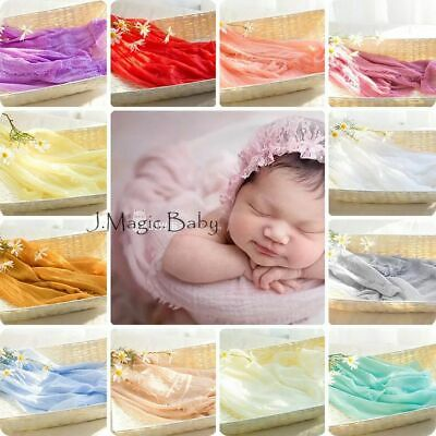 Newborn Baby Fringe Cheesecloth Wrap Photo Prop Backdrop Blanket Photography