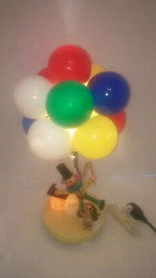 Clown Lamp 70's Dolly Toy Children Nursery Lamp Night Light Balloons & Dog