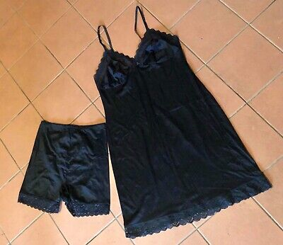 Vintage Retro Ladies Black Petticoat & Slim Wear Underwear Girdle Lingerie