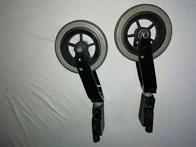 Pair Of Invacare Action Ng Wheelchair  Front Wheel Assembly