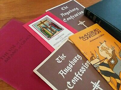 Religious Bible Study Books Lot Augsburg Confession To Live CHRIST Martin Luther